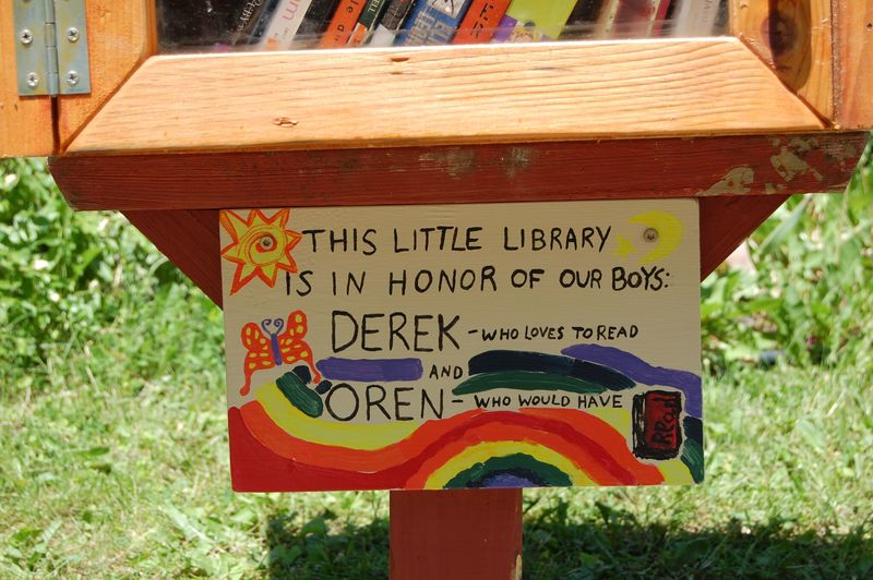 Free Library in Memorial Garden