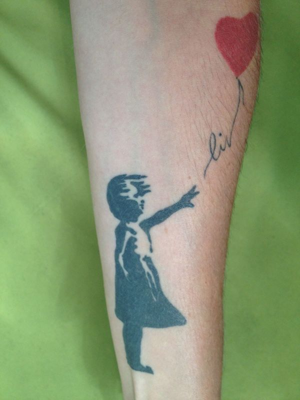 Banksy's Girl with a Balloon Tattoo