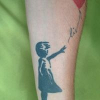 Banksy's GIrl with Balloon and daughter's name